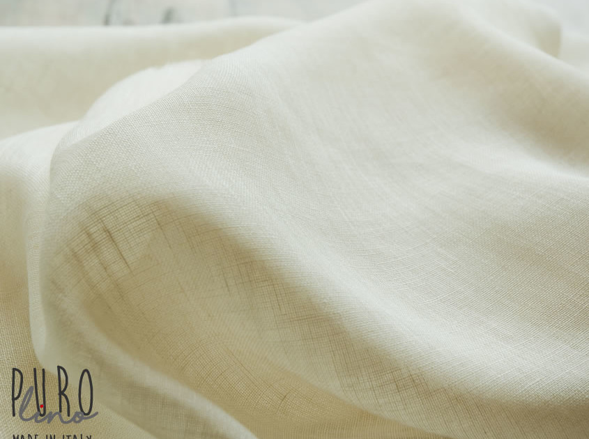 Lino per Tende colore panna taglio su misura